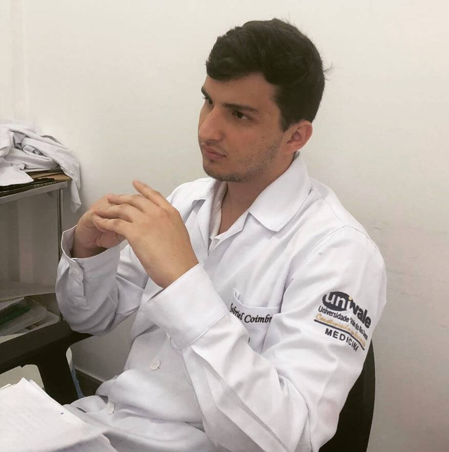 aluno de medicina Gabriel Coimbra